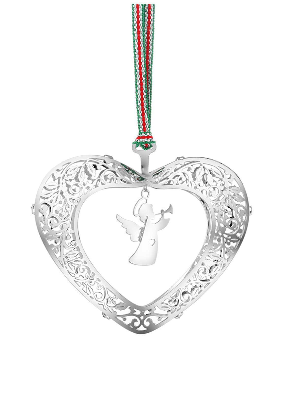 Newbridge Christmas Hanging Heart with Angel Tree Decoration