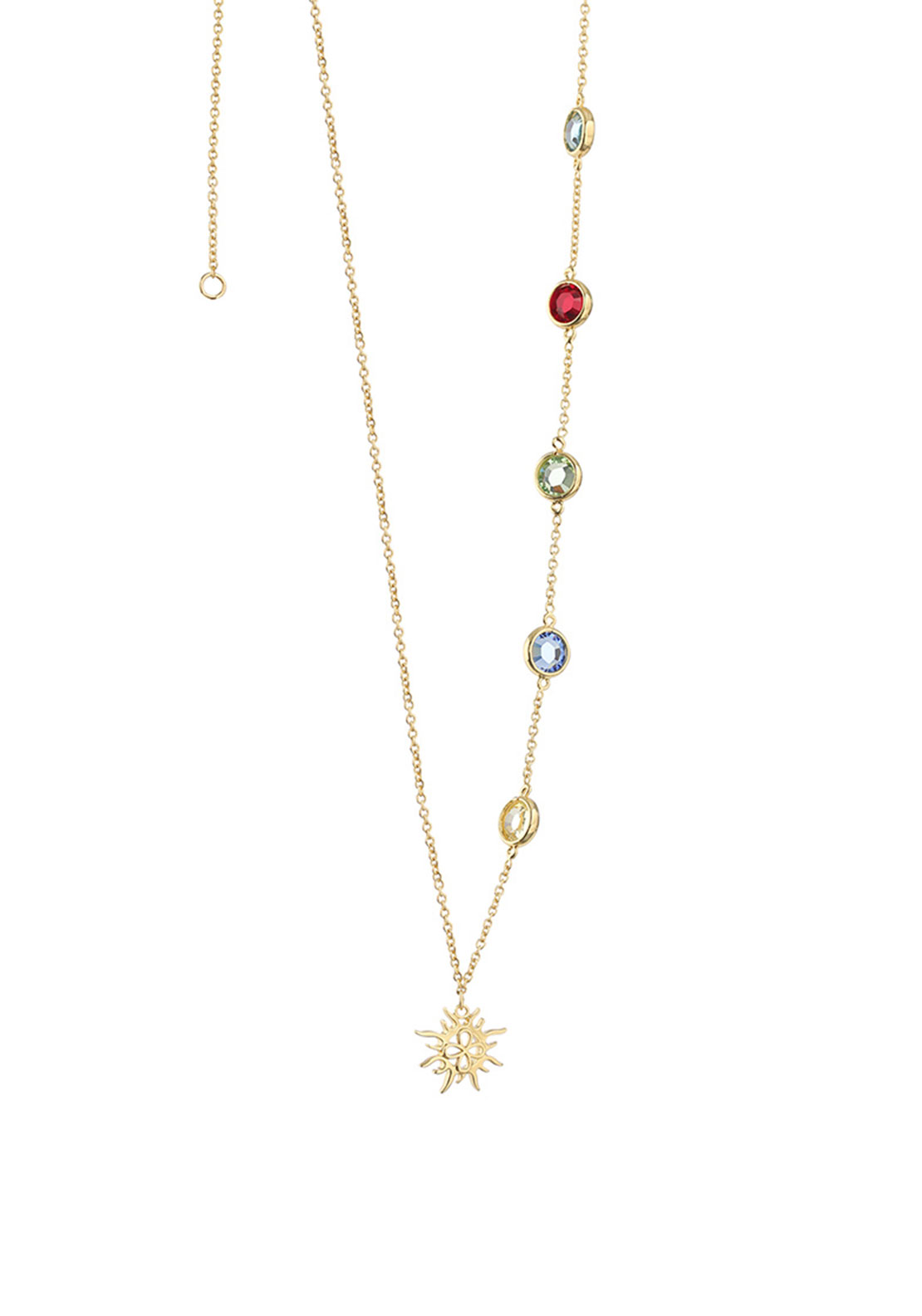 Newbridge Amy Colourful Stone Necklace, Gold