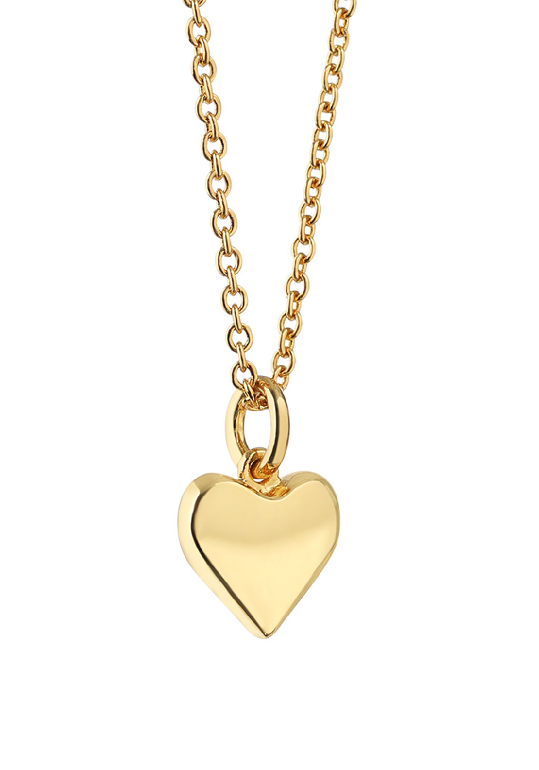 Newbridge Amy Heart Pendant Necklace, Gold