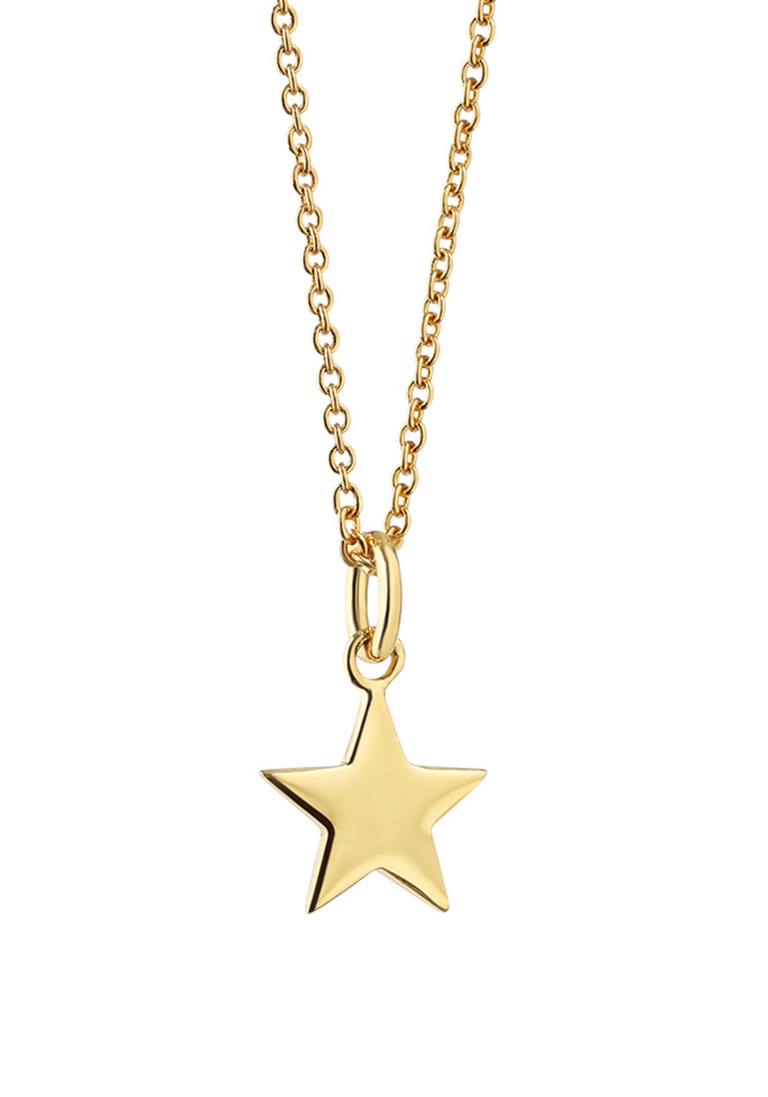 Newbridge Amy Star Pendant Necklace, Gold