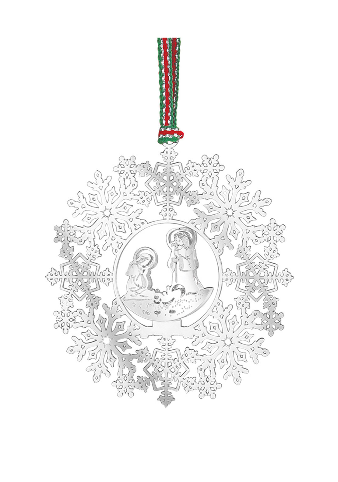 Newbridge Christmas Hanging Snowflake with Nativity Decoration