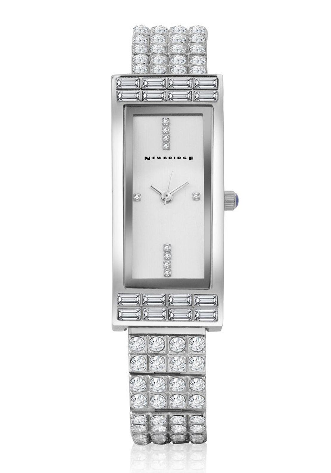 Newbridge Ladies Rectangle Face Watch, Silver
