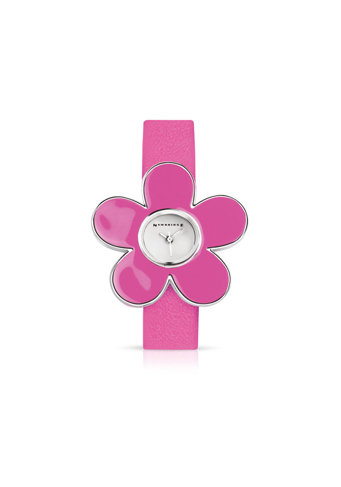 Newbridge Watch with Flower Face, Pink