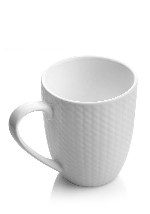 Newbridge Home Whiteware Mugs, set of 6
