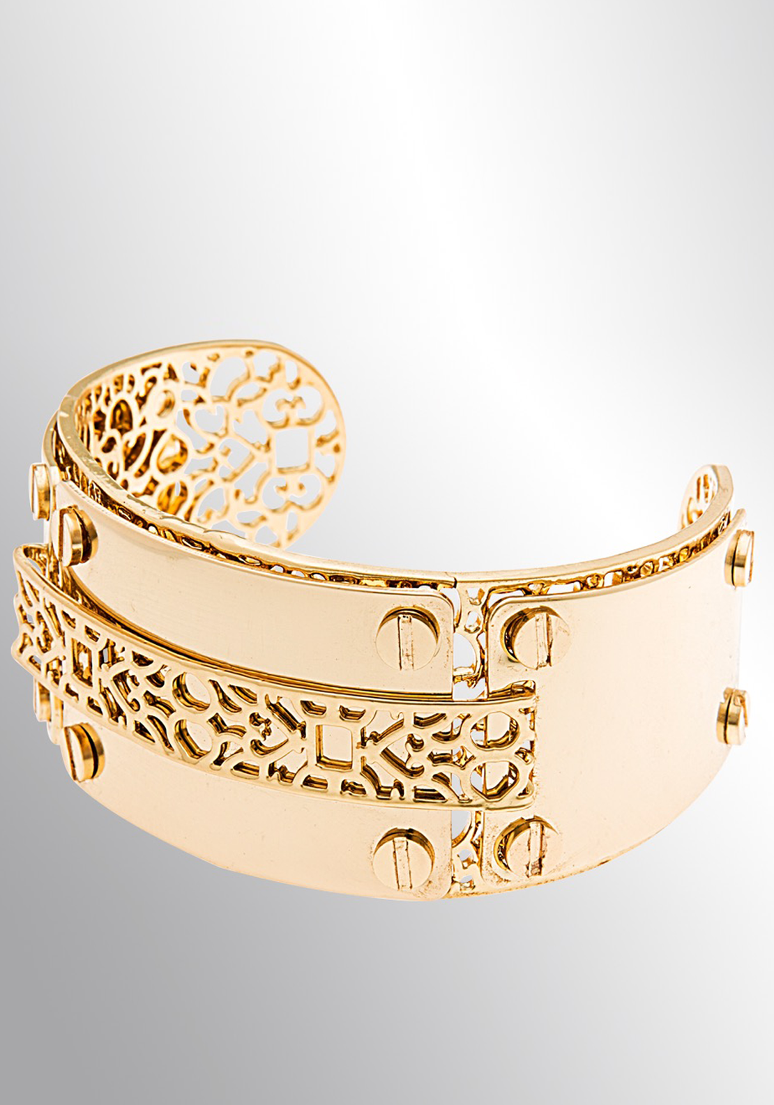 Newbridge eShe Filigree Cuff Bangle, Gold
