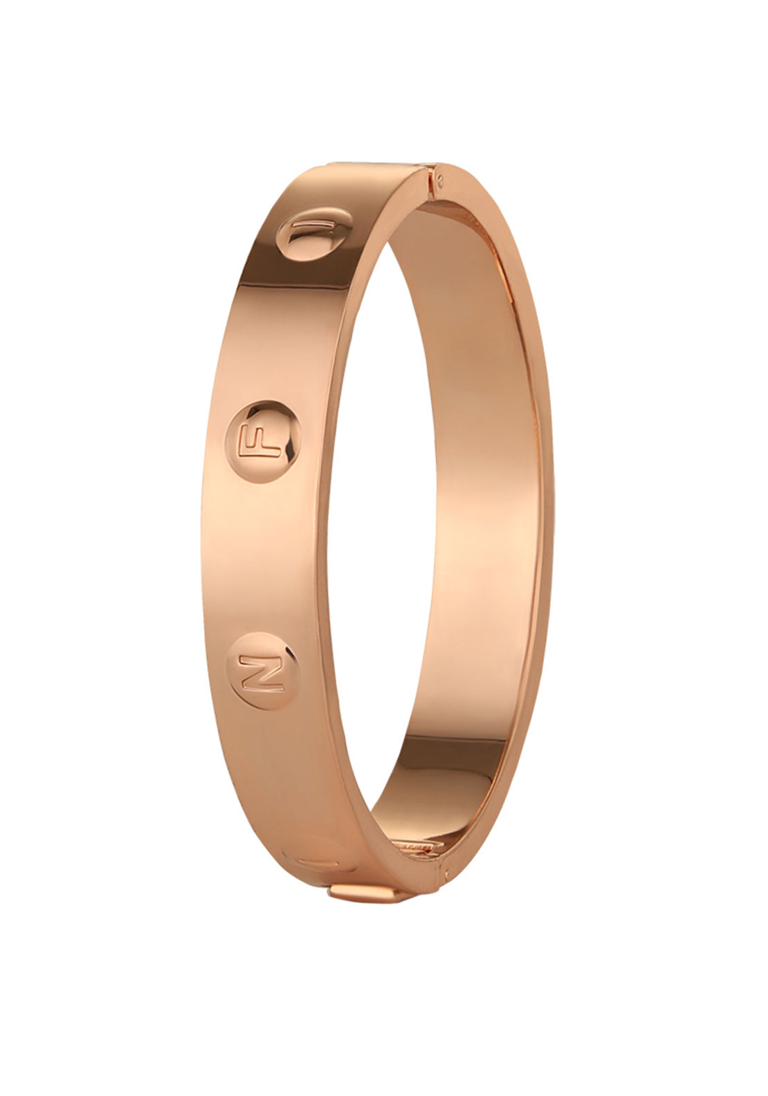 Newbridge Silverware Infinity Bangle, Rose Gold Plated