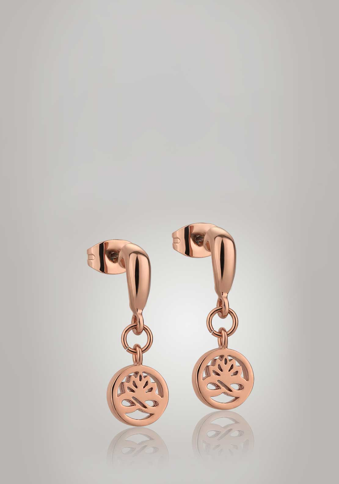 Newbridge Silverware Ti Amo Collection Stud Drop Earrings, Rose Gold