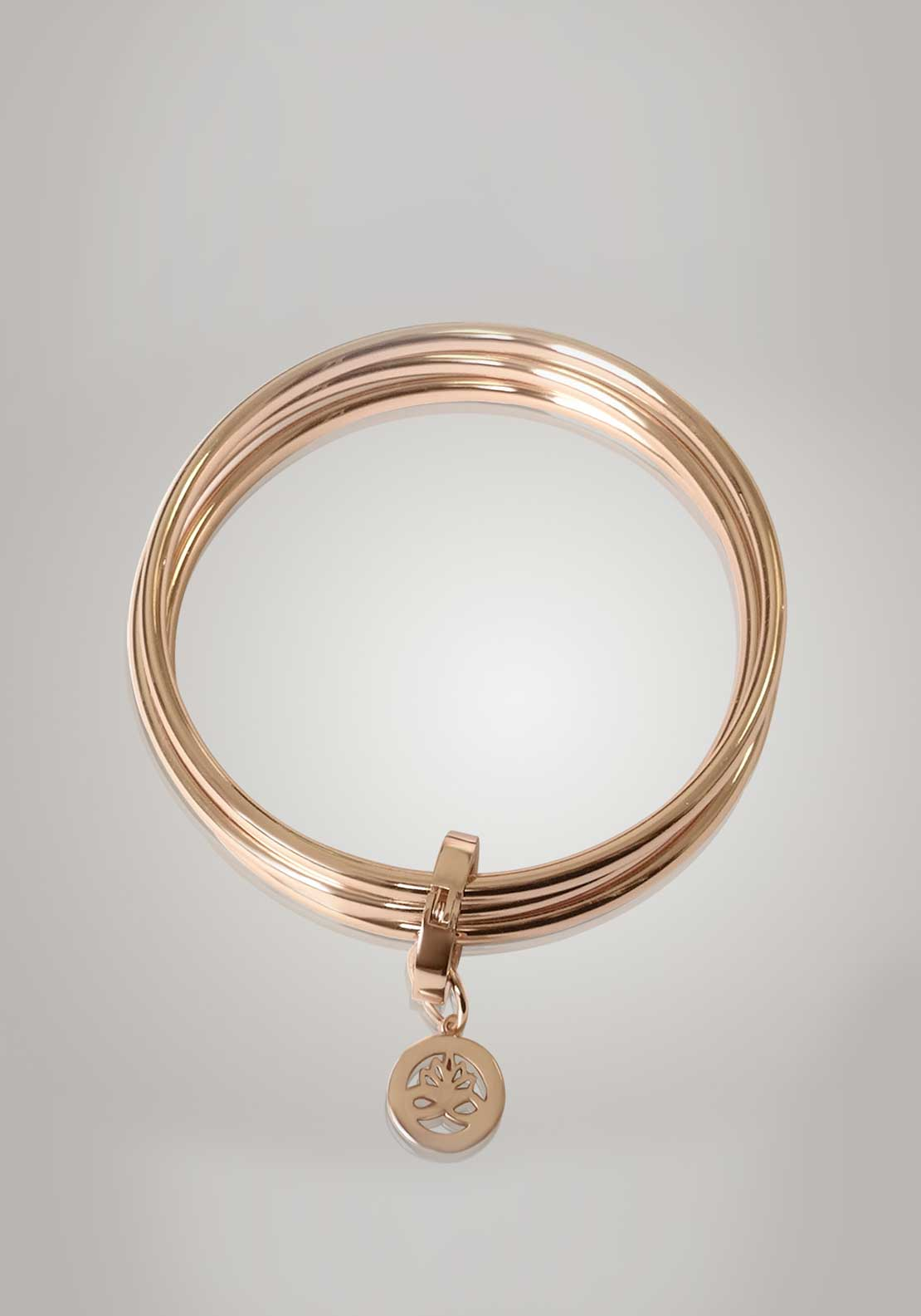 Newbridge Silverware Ti Amo Collection Triple Bangle, Rose Gold