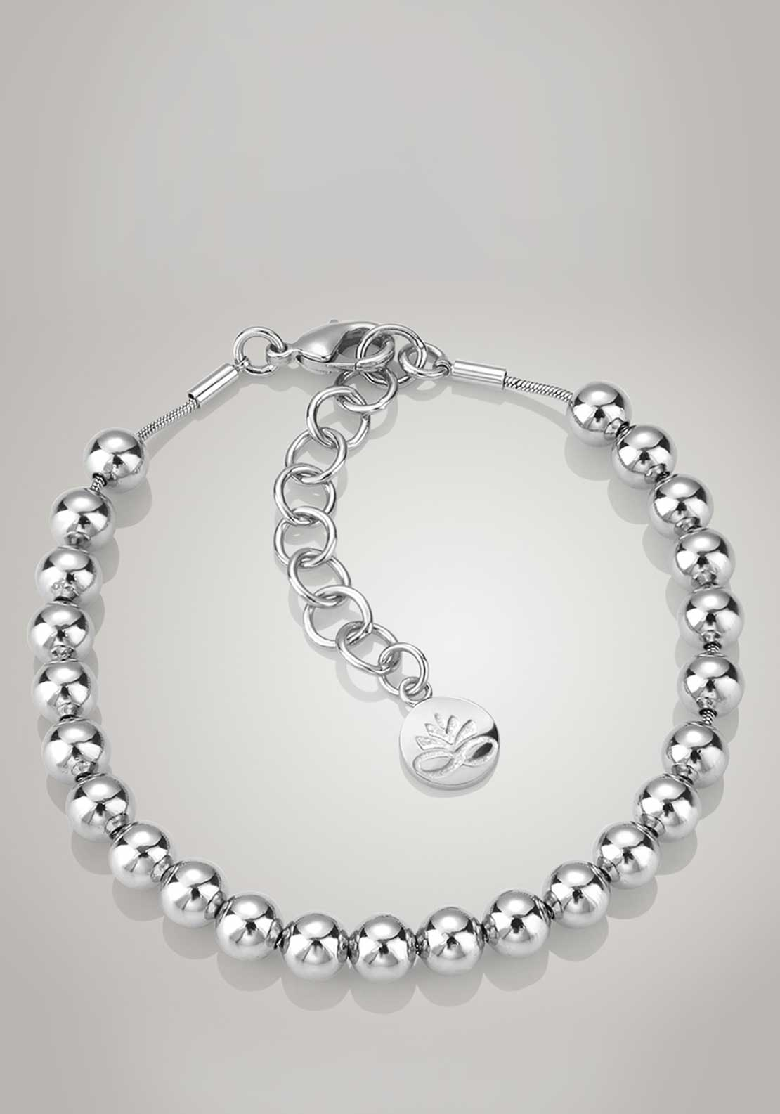Newbridge Silverware Ti Amo Collection Small Bead Bracelet, Silver