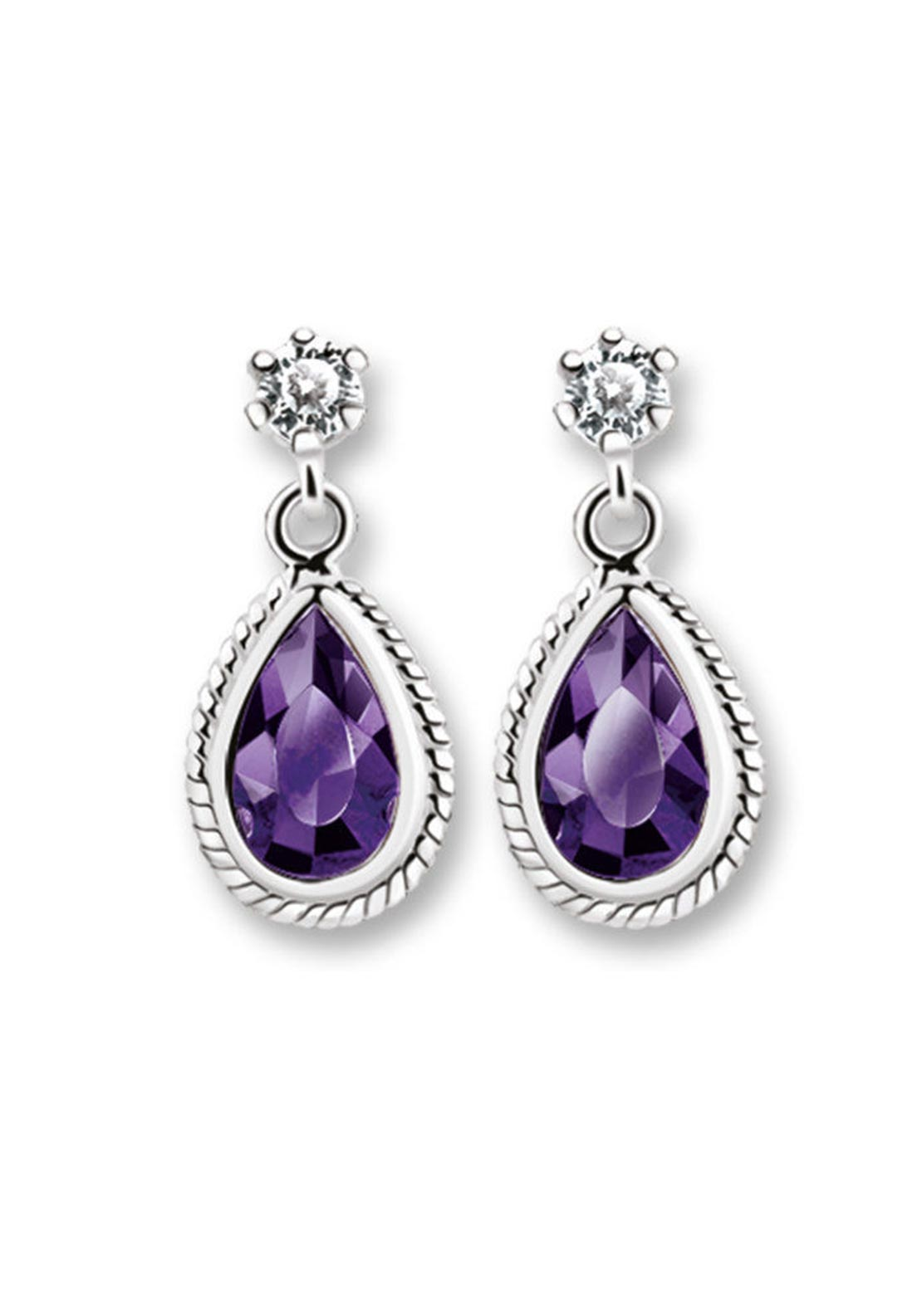 Newbridge Earrings Purple Stone