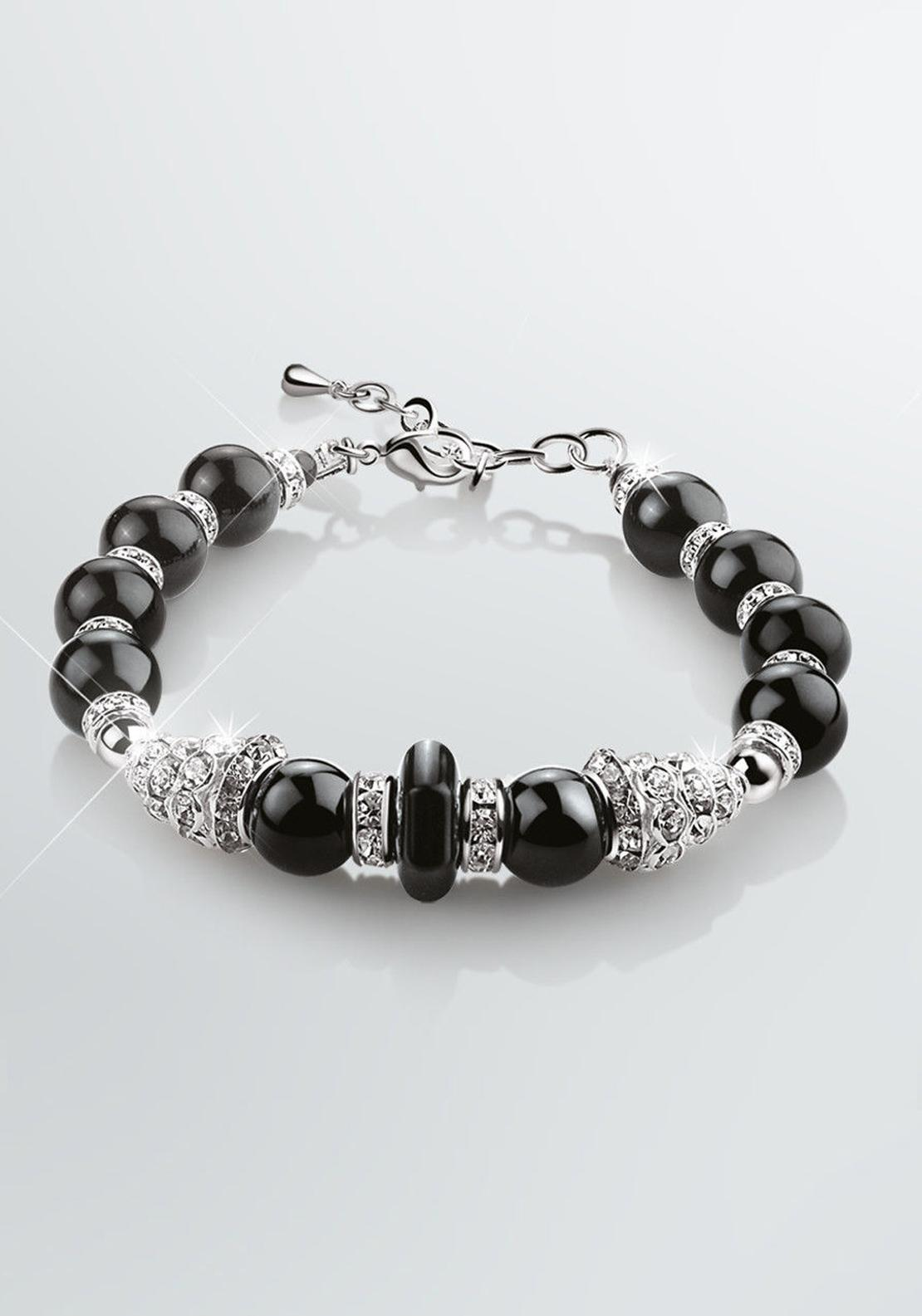 Newbridge Greta Garbo Onyx Bracelet, Crystal and Black