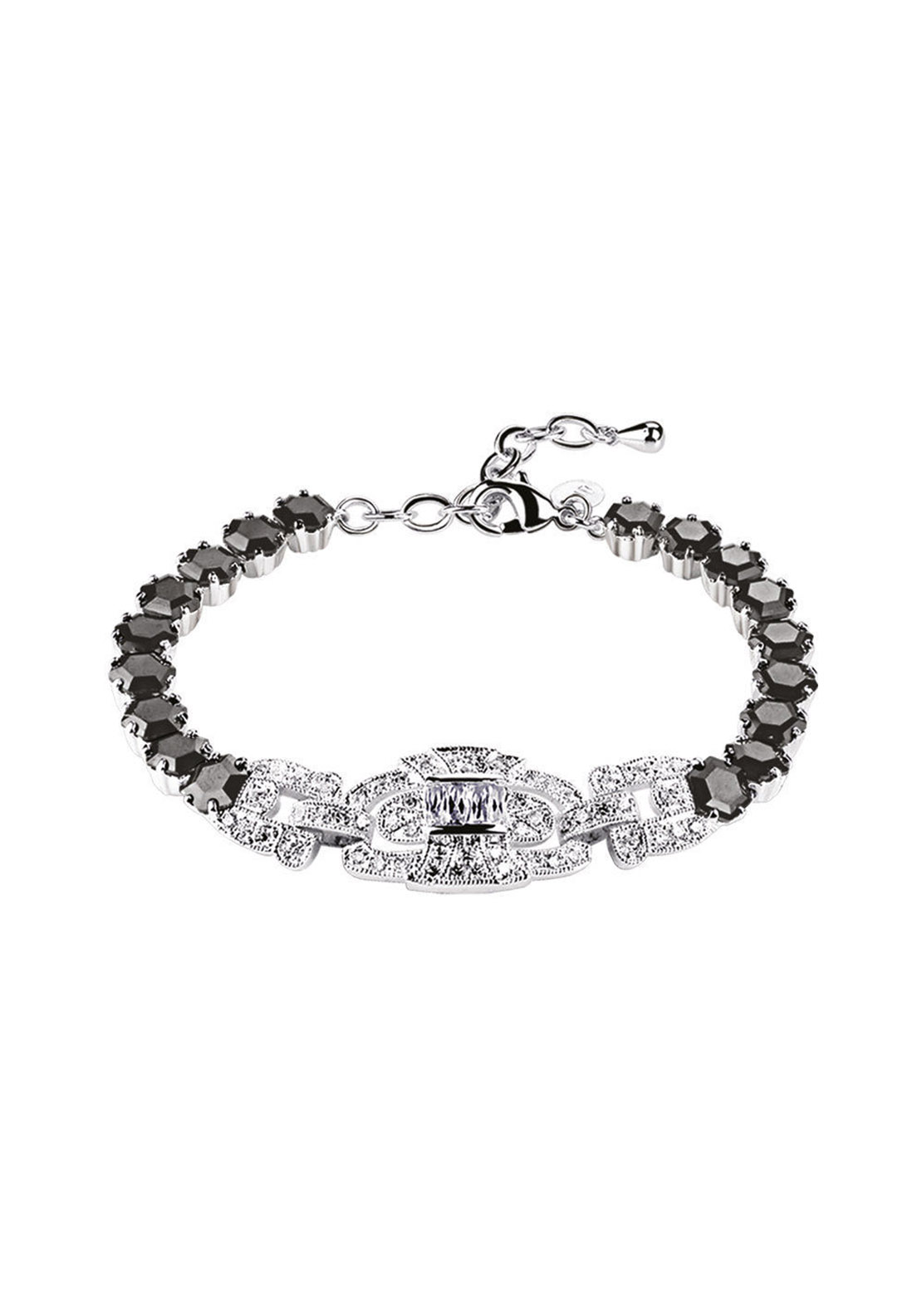 Newbridge Greta Garbo Bracelet, Clear and Black