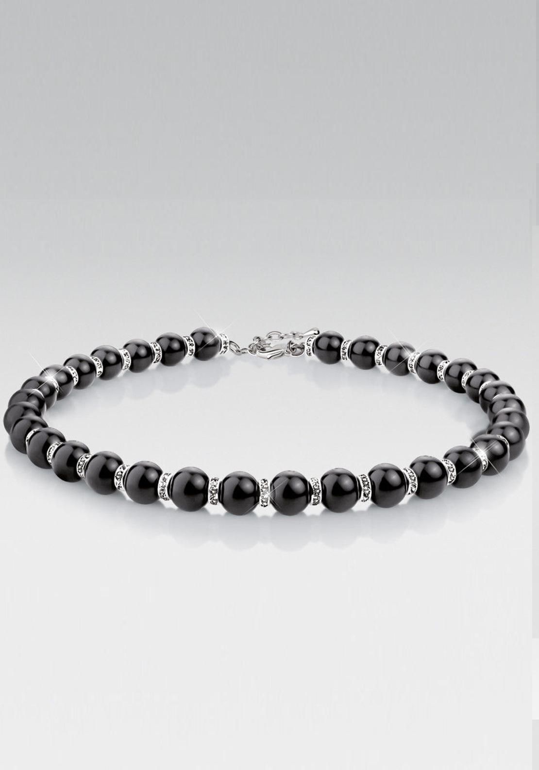Newbridge Greta Garbo Onyx Neckpiece, Crystal and Black
