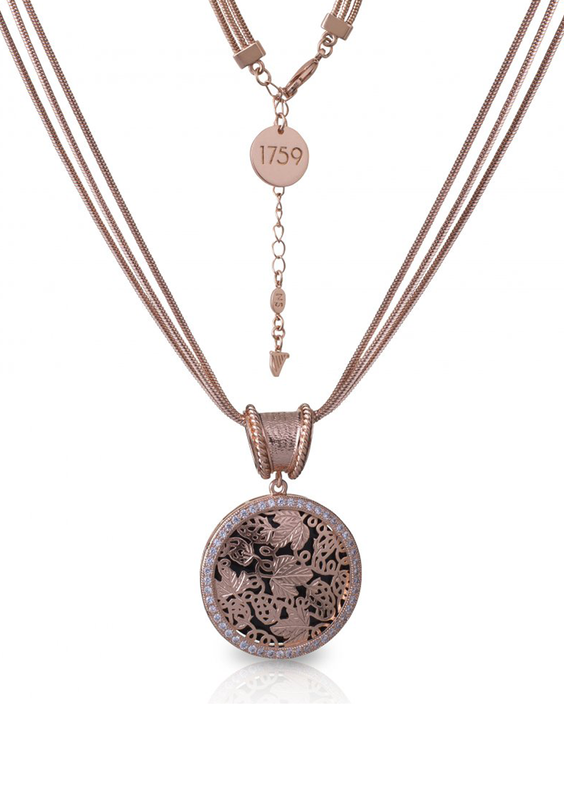 Guinness Newbridge Silverware Rose Gold Plated Pendant, Rose Gold