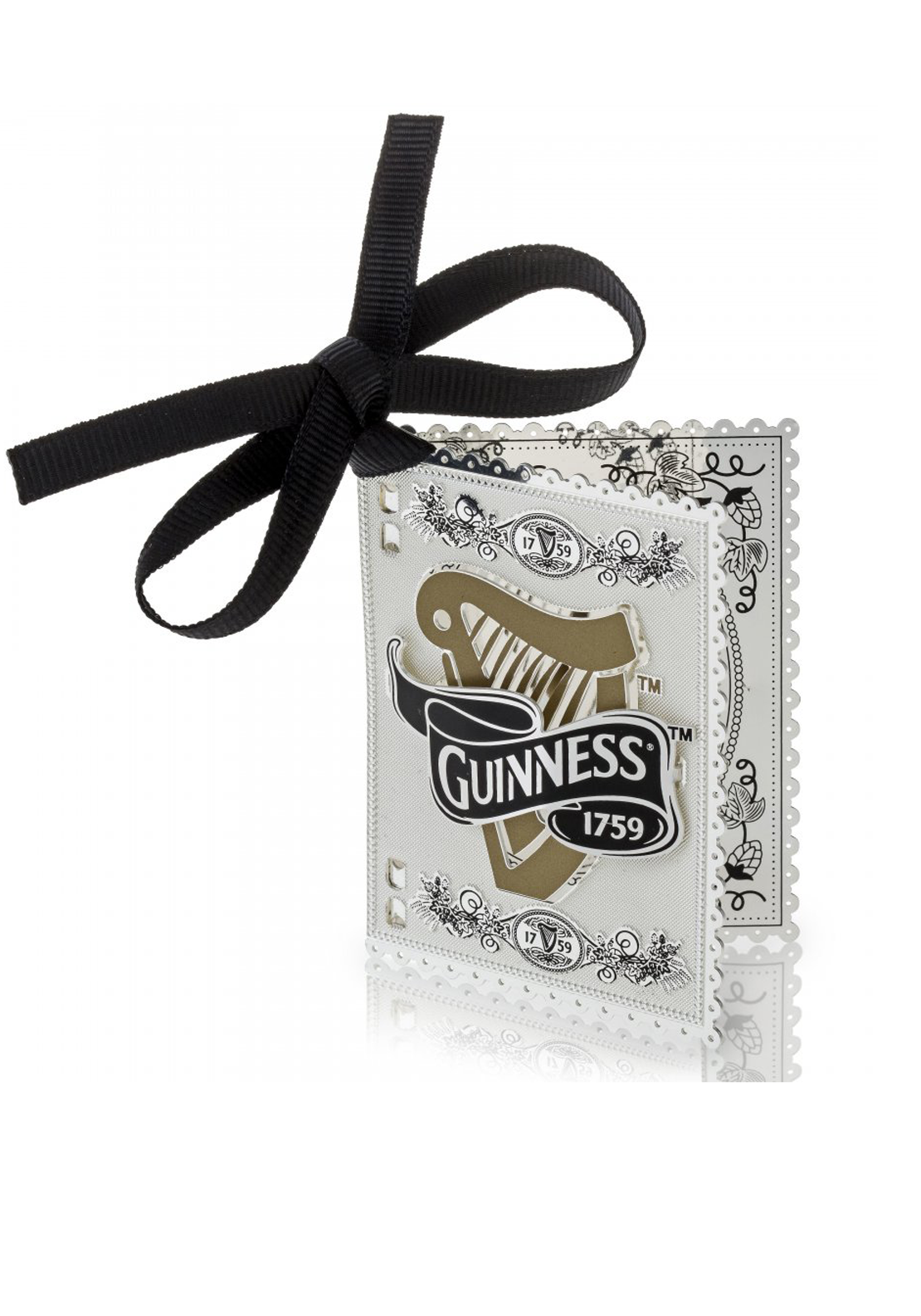 Guinness Newbridge Silverware Harp Book Decoration