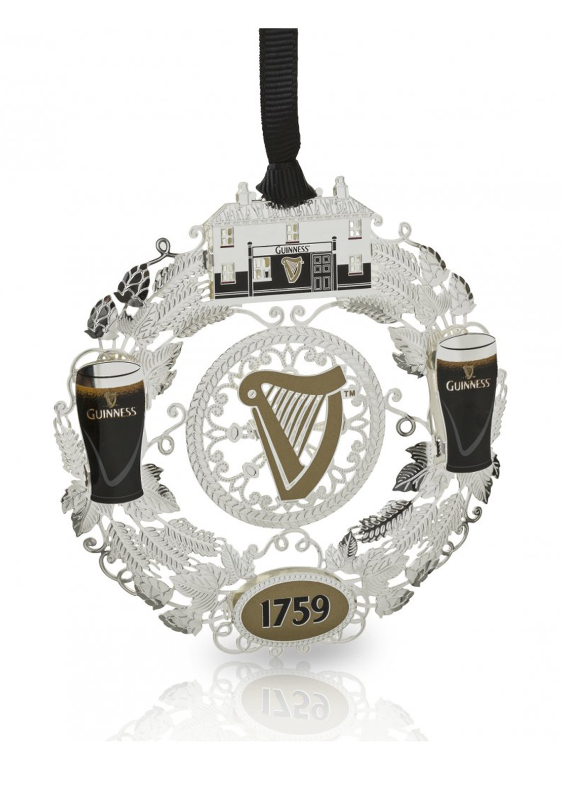 Guinness Newbridge Silverware Wreath Decoration