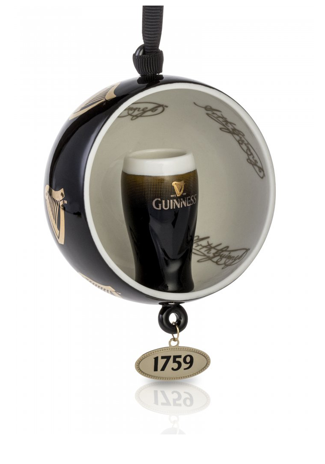 Guinness Newbridge Silverware Open Globe Pint Decoration