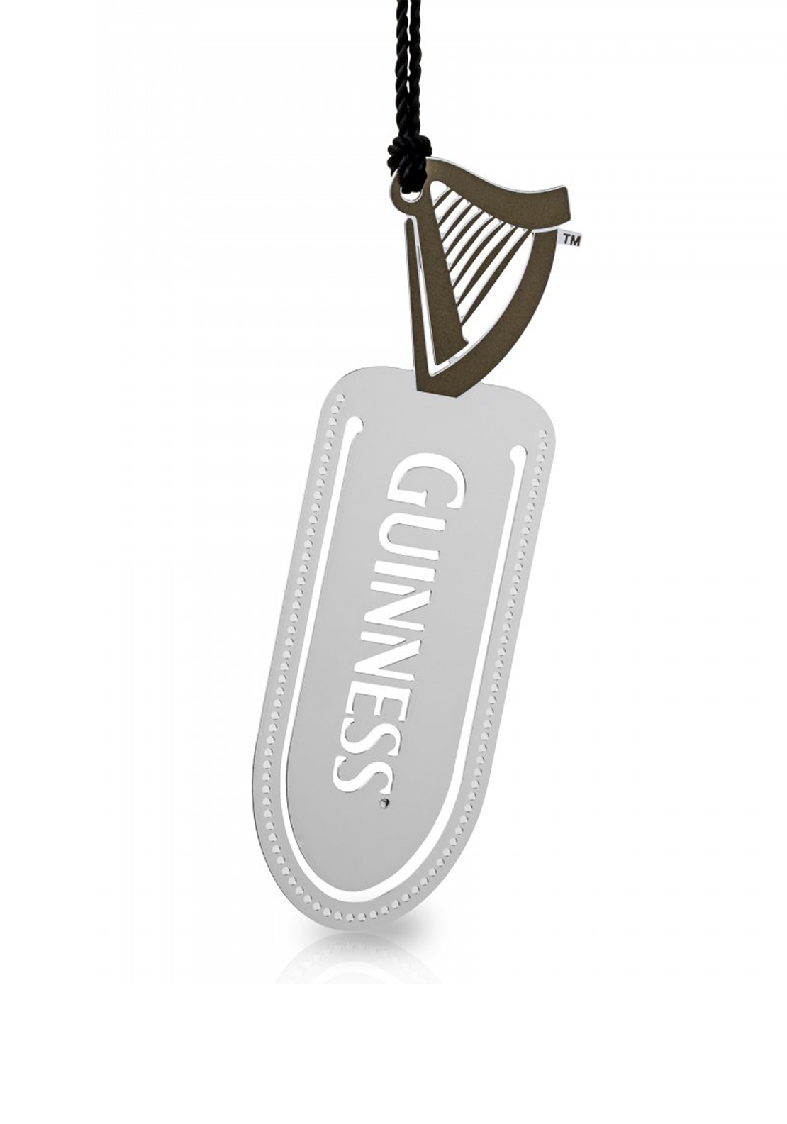 Guinness Newbridge Silverware Harp Bookmark with Tassel