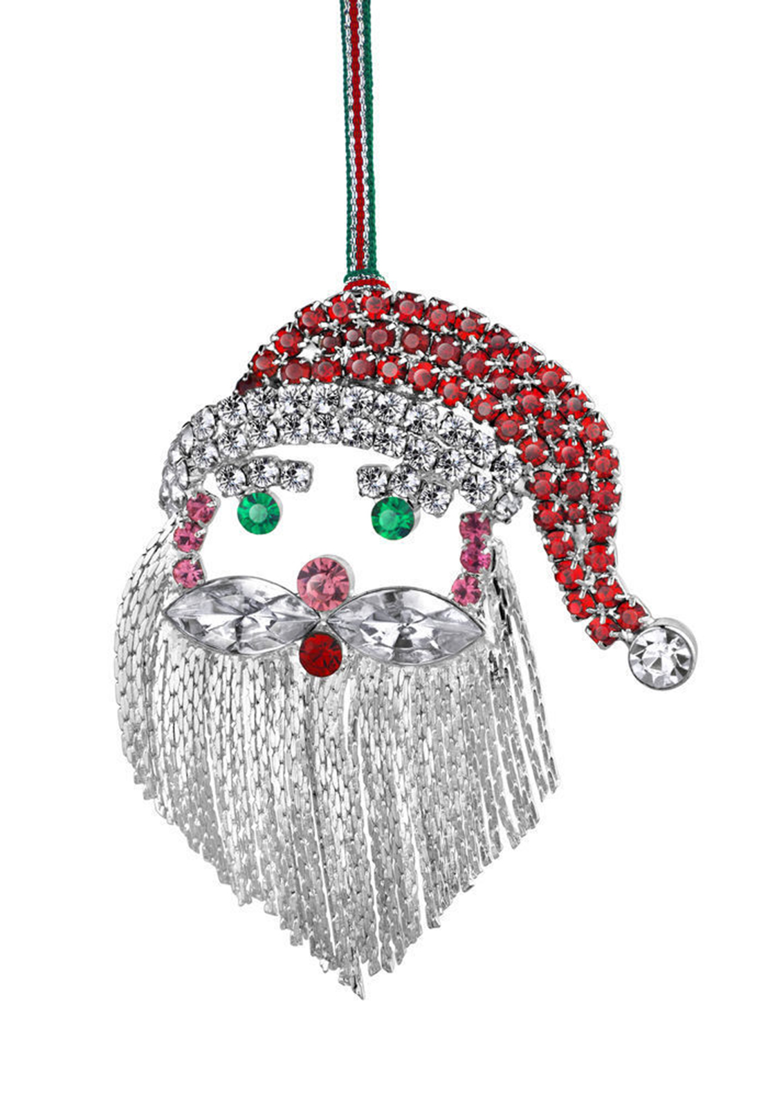 Newbridge Christmas Crystal Santa Face Hanging Decoration