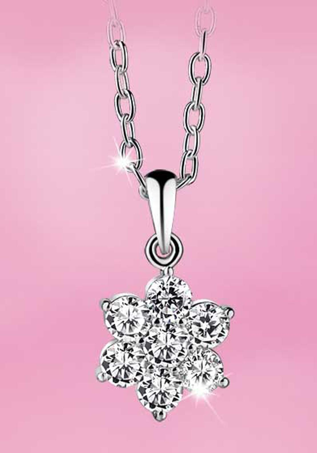 Newbridge Princess Floral Cup Pendant, Clear
