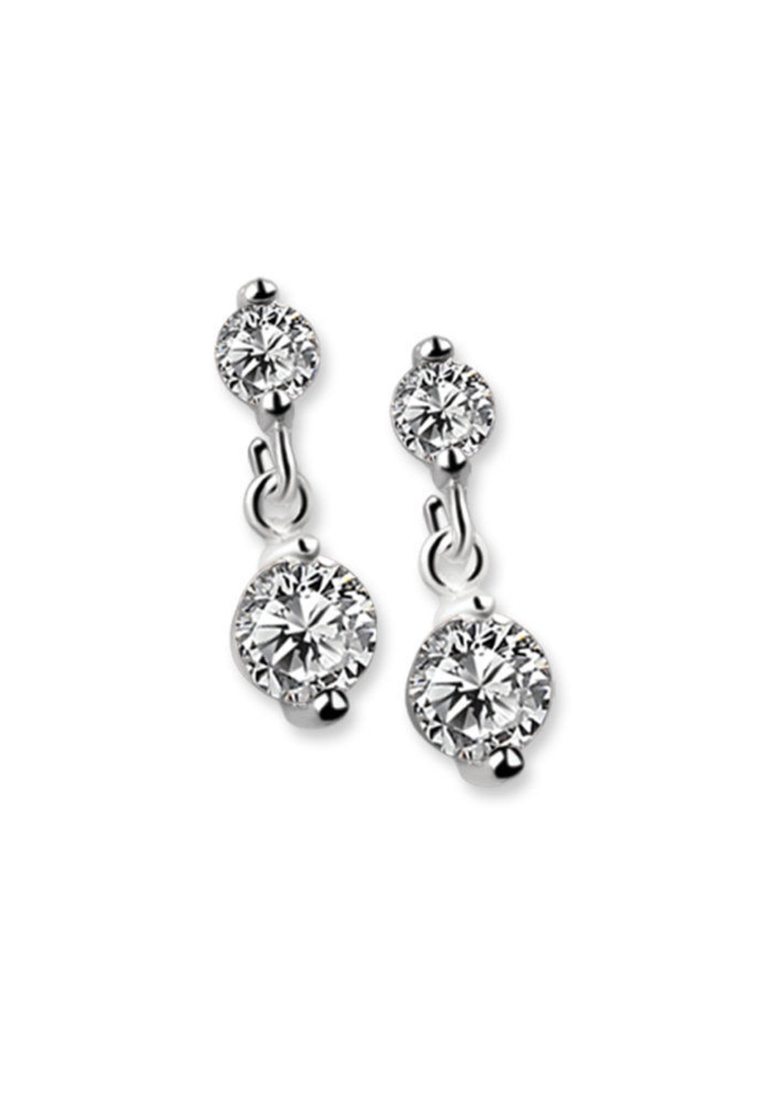 Newbridge Drop Earrings, Clear Stone