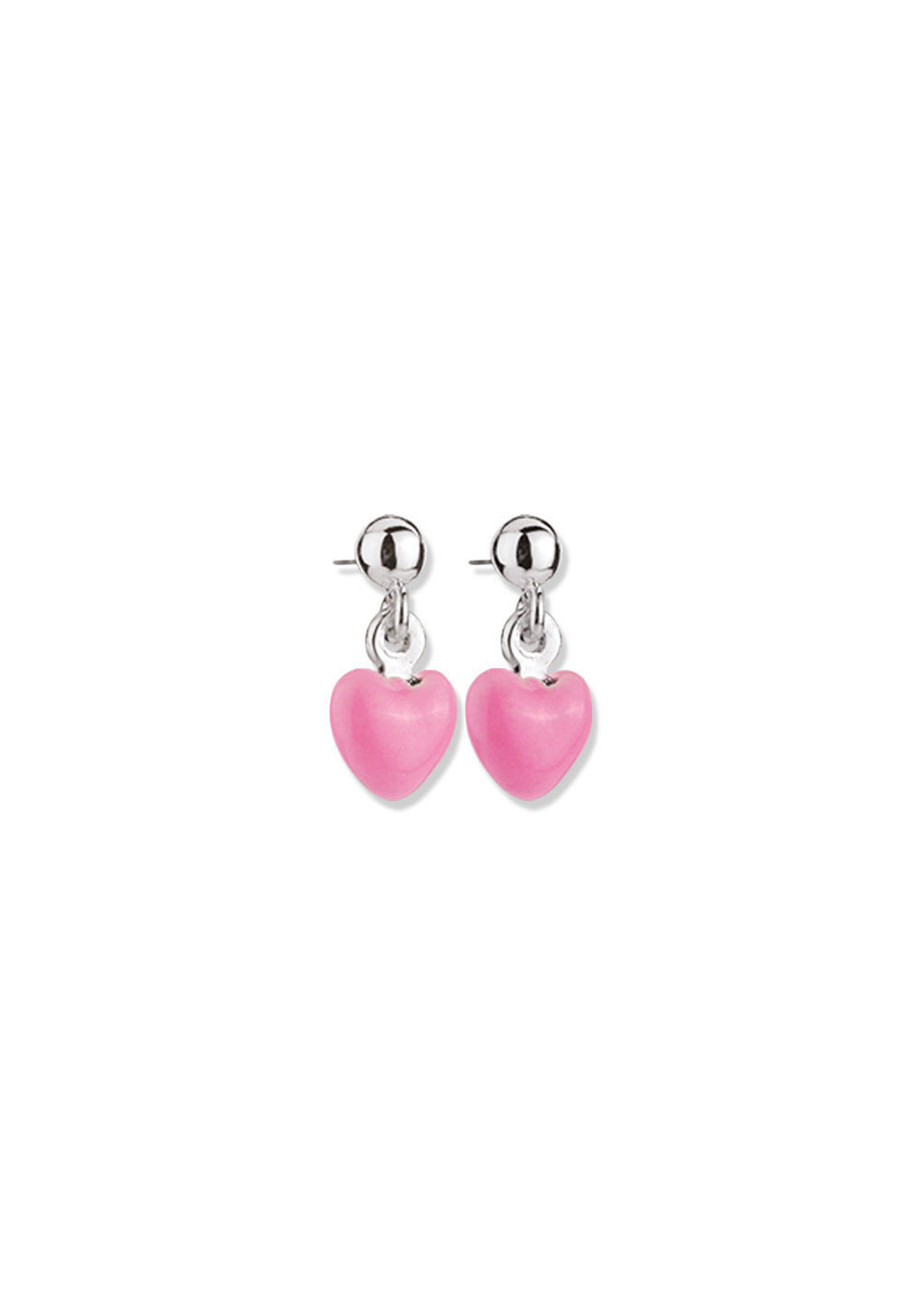 Newbridge Heart Earrings, Pink