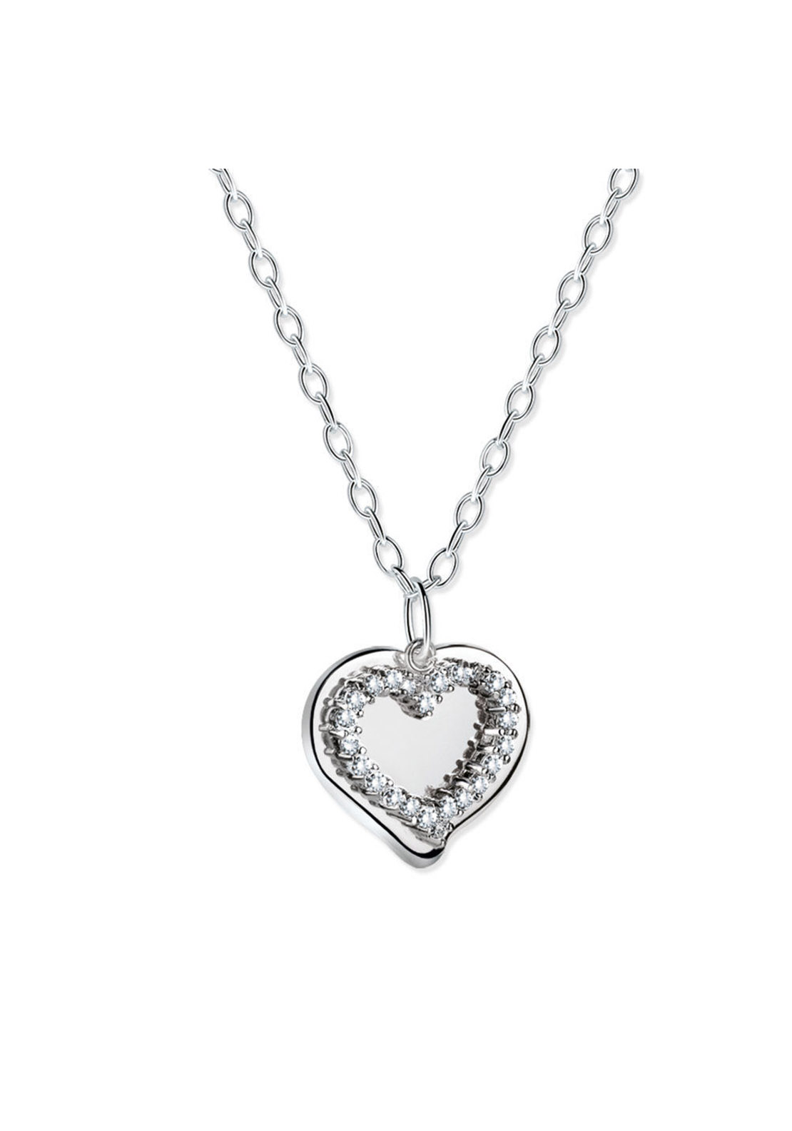 Newbridge Mementos Pendant with Heart, Silver