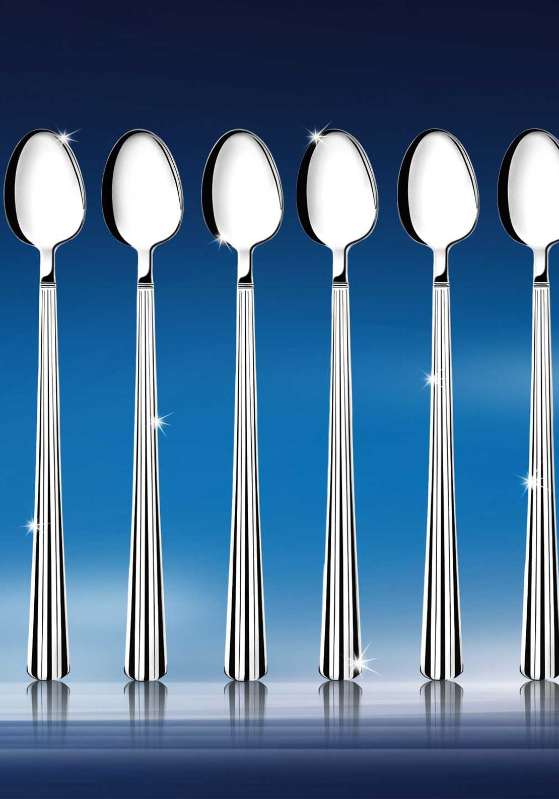 Newbridge Nova Stainless Steel Latte Spoons, Set of 6