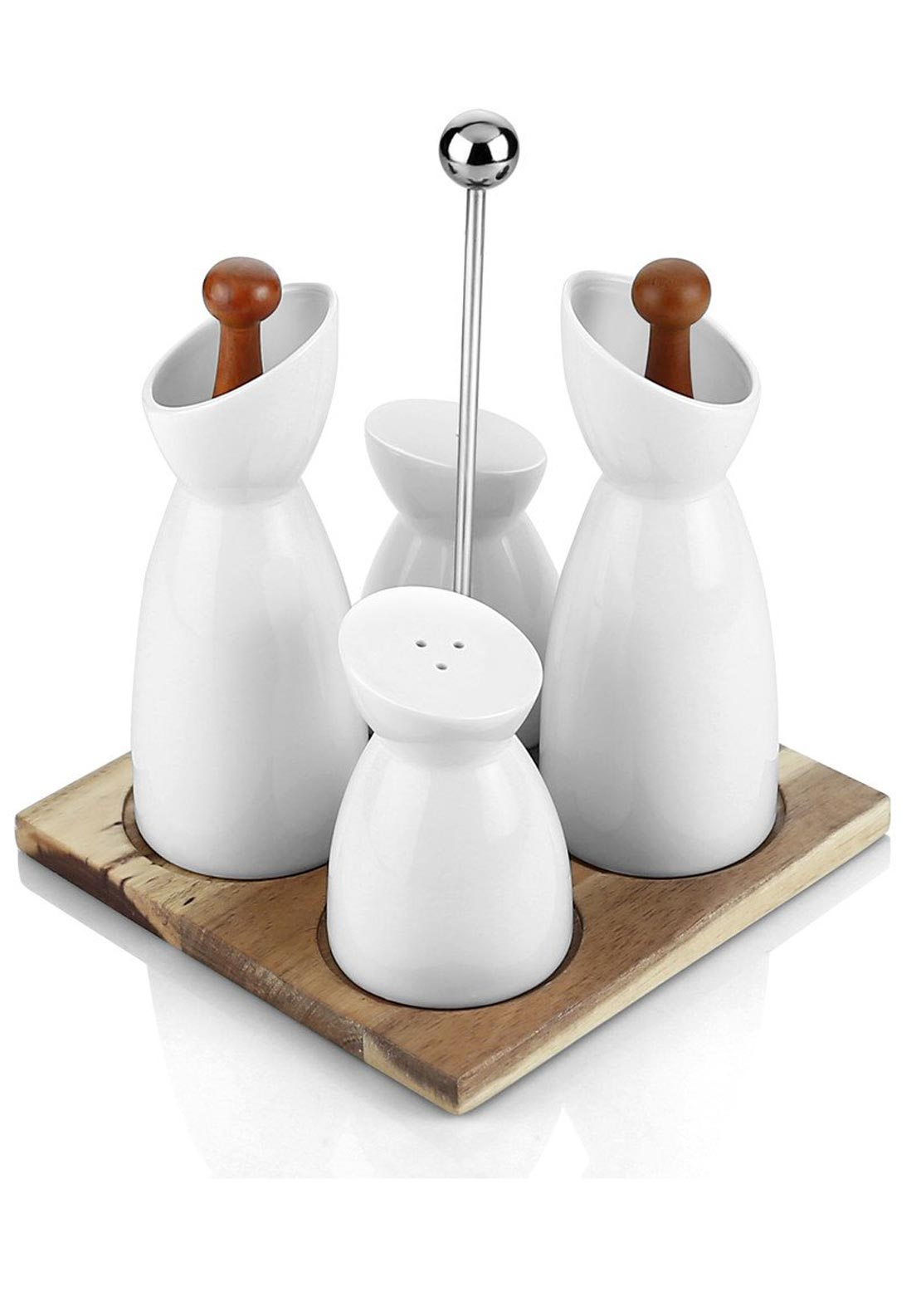 Newbridge 6 Piece Condiment Set, White