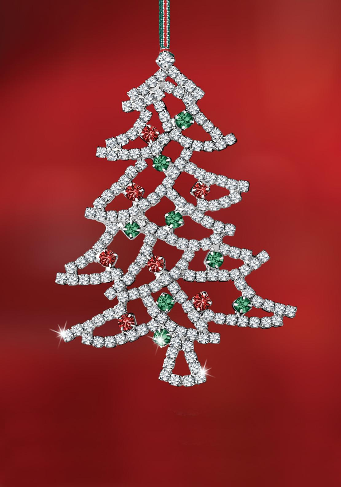 Newbridge Christmas Crystal Tree Hanging Decoration
