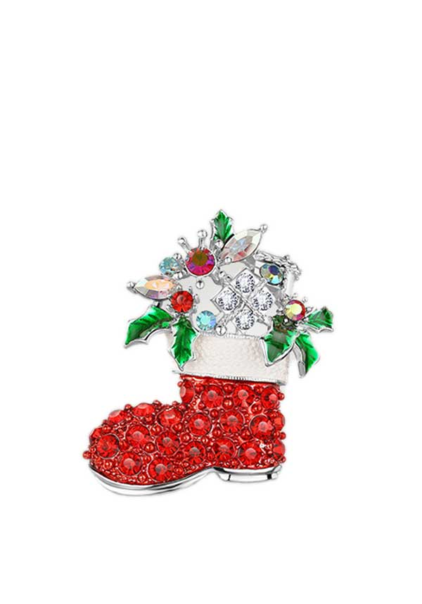Newbridge Christmas Christmas Boot Decoration with Coloured Stones