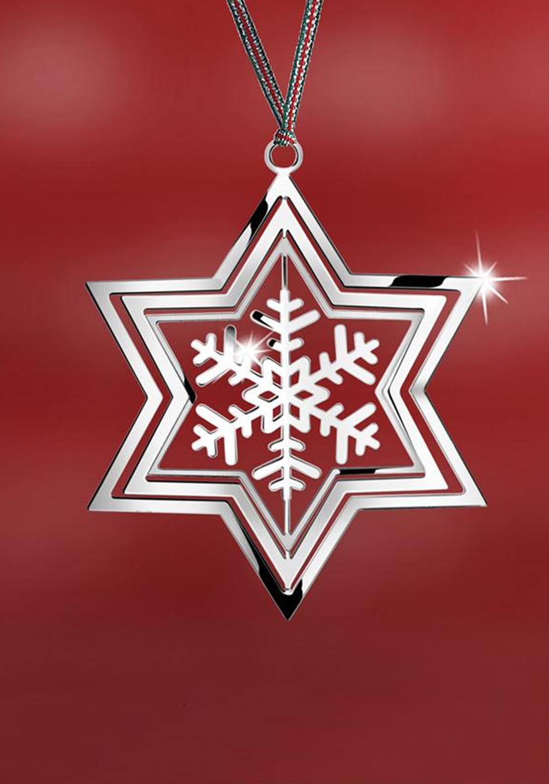 Newbridge Christmas Rotating Stars Snowflake Decor