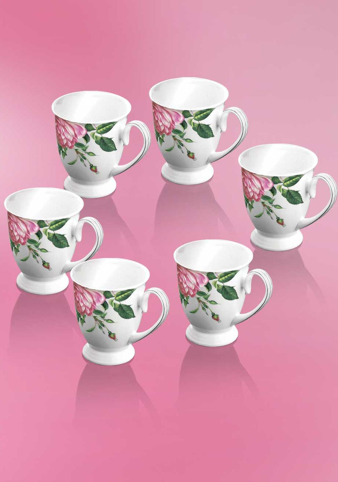Newbridge Home Rose Mug, Set of 6