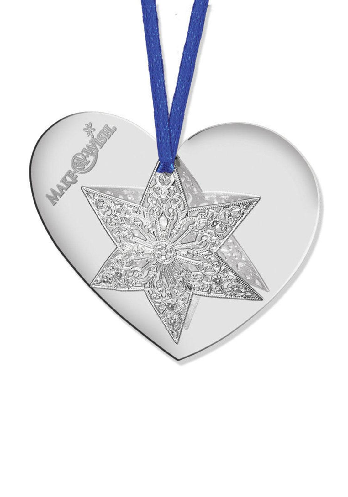 Newbridge Christmas Make-A-Wish Heart with Star Decoration