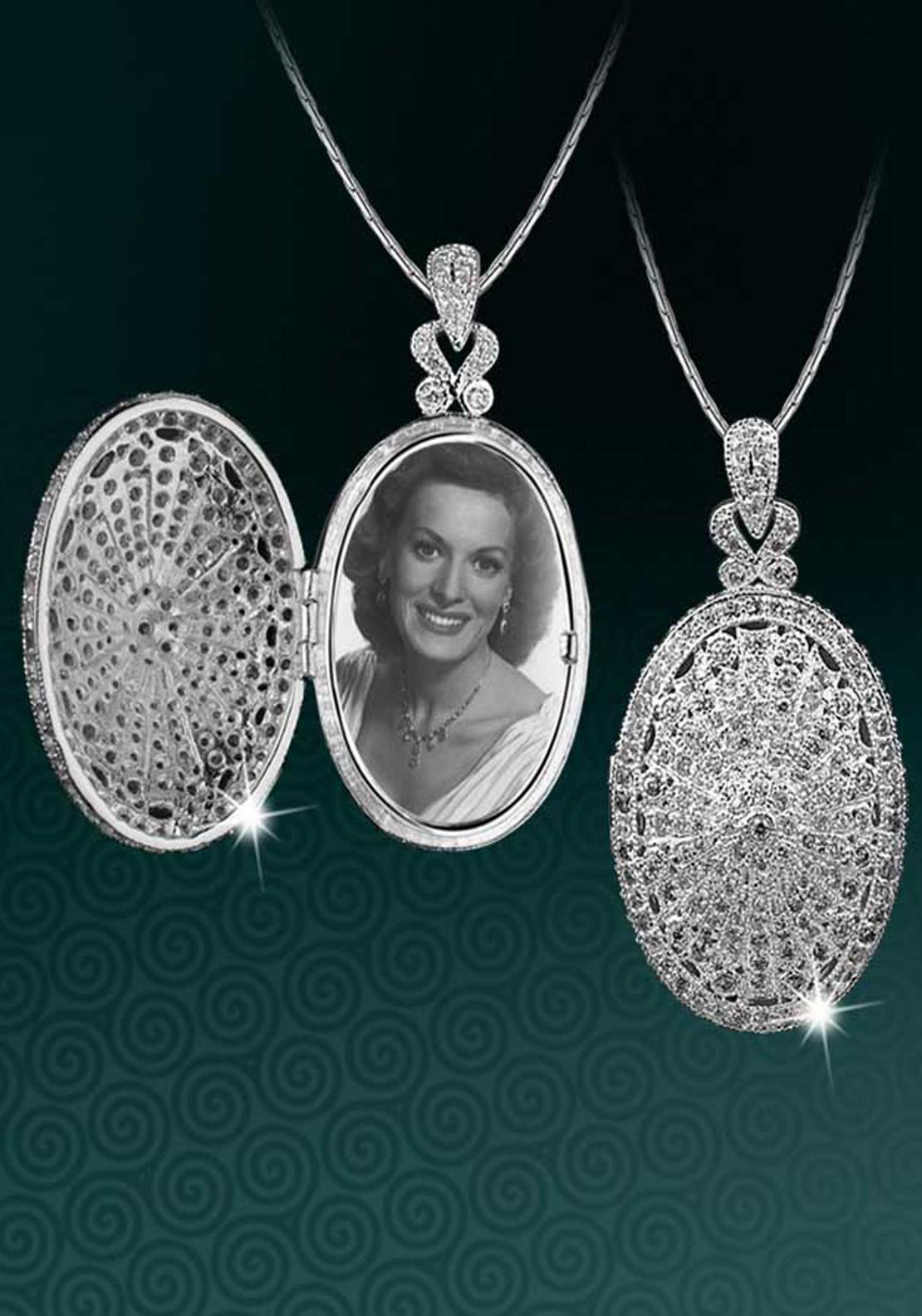 Newbridge Maureen O'Hara Crystal Locket, Silver / Clear