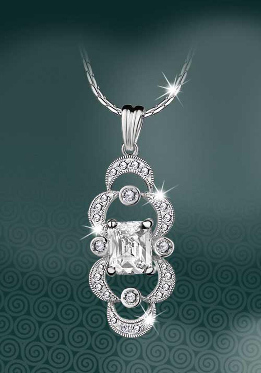 Newbridge Maureen O'Hara Crystal Pendant, Silver / Clear