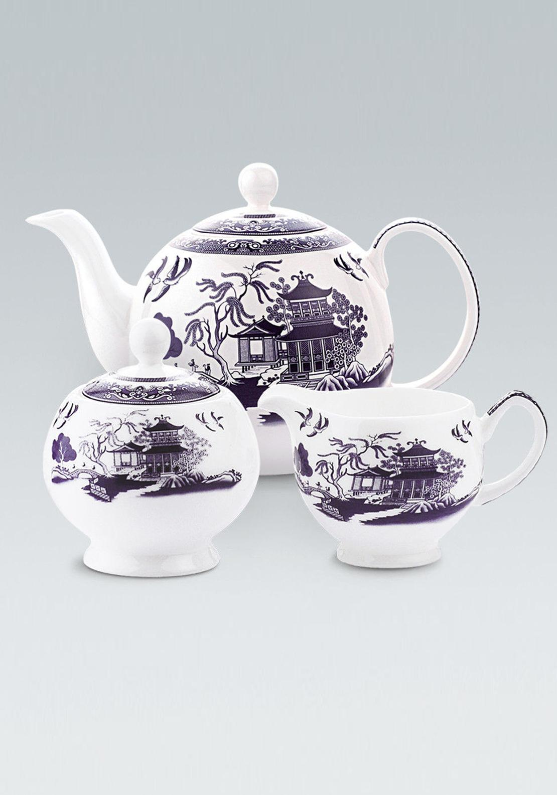Newbridge Silverware Maureen O'Hara Willow Collection 3 Piece Tea Set