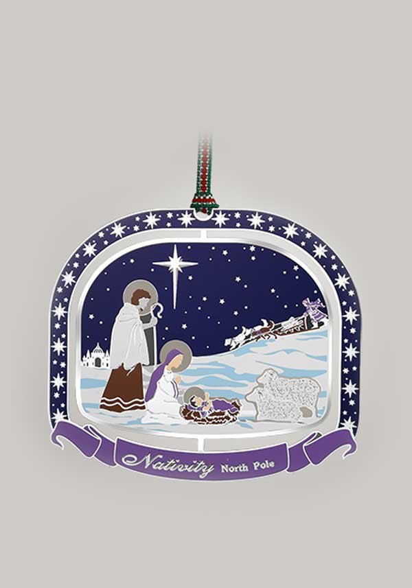 Newbridge Christmas North Pole Nativity Scene Decoration
