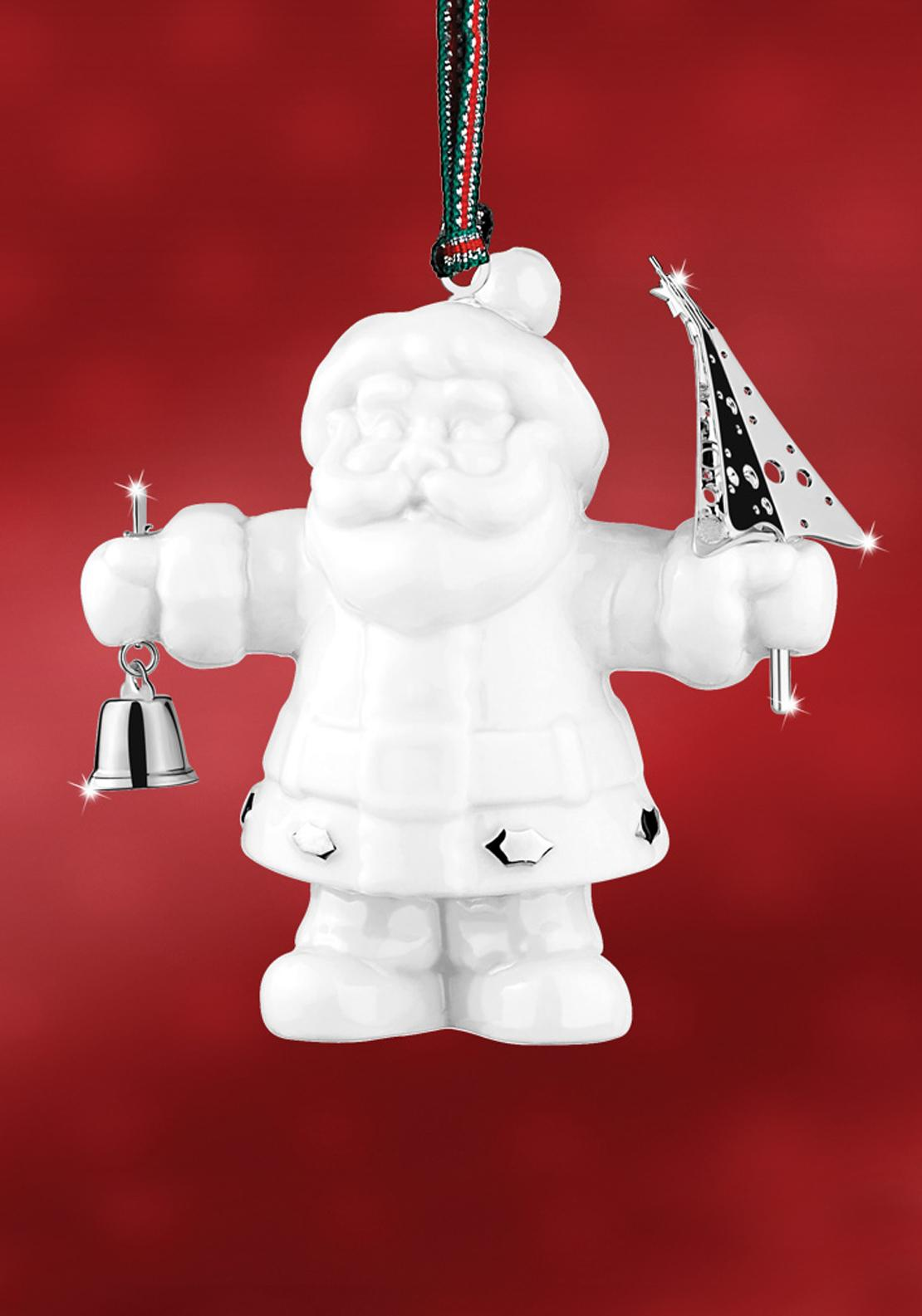 Newbridge Christmas Silver Ceramic Santa Claus