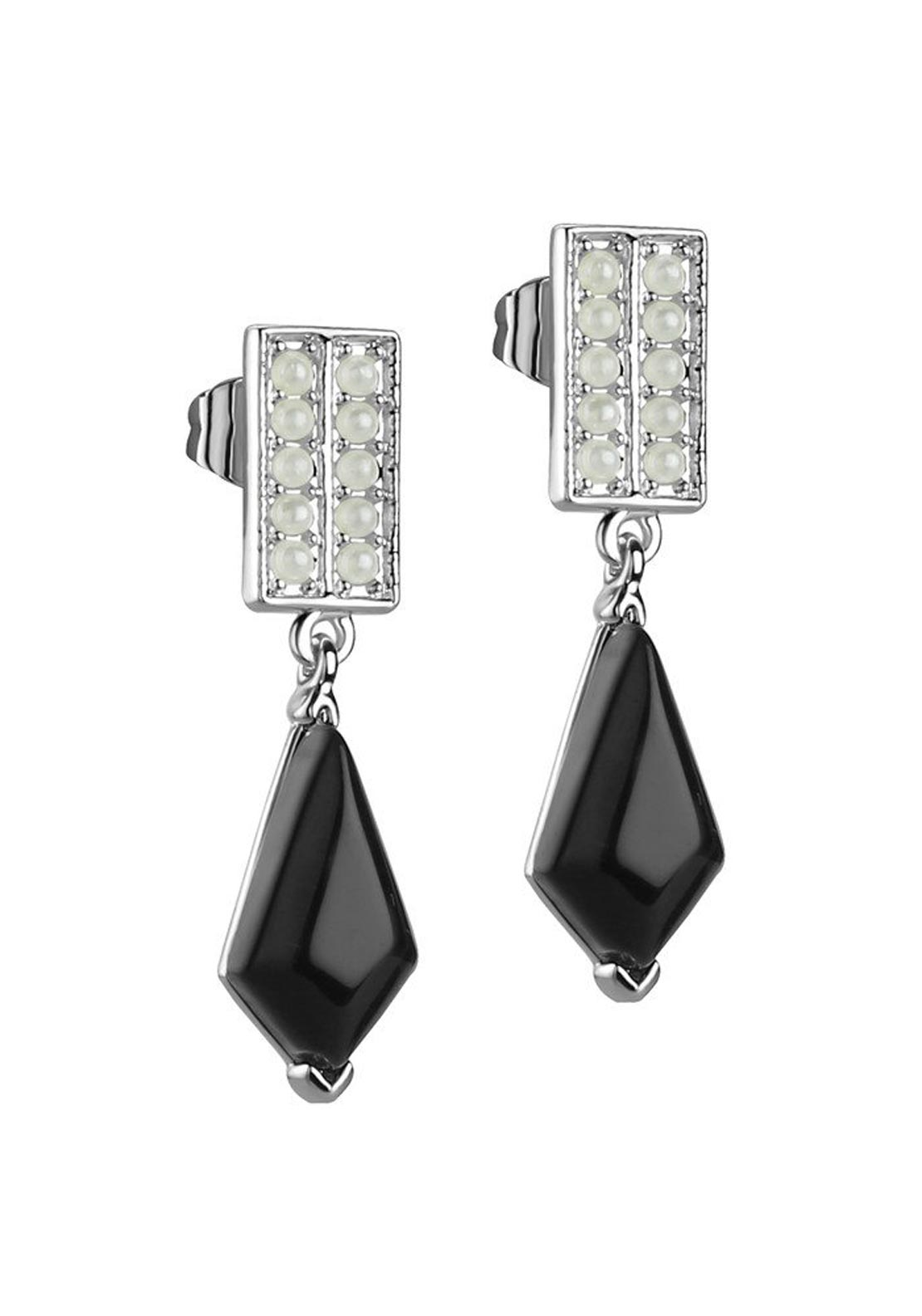 Newbridge Vintage Black Stone Earrings