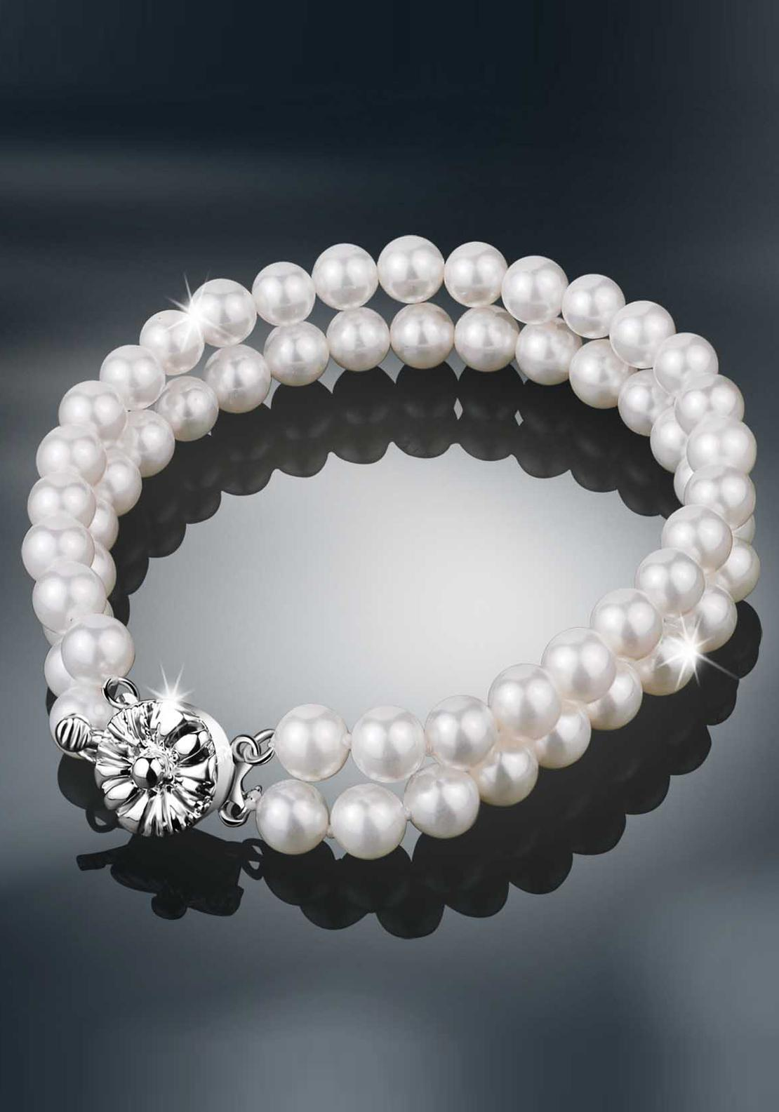 Newbridge Princess Grace Collection Twin Strand Bracelet, Pearl