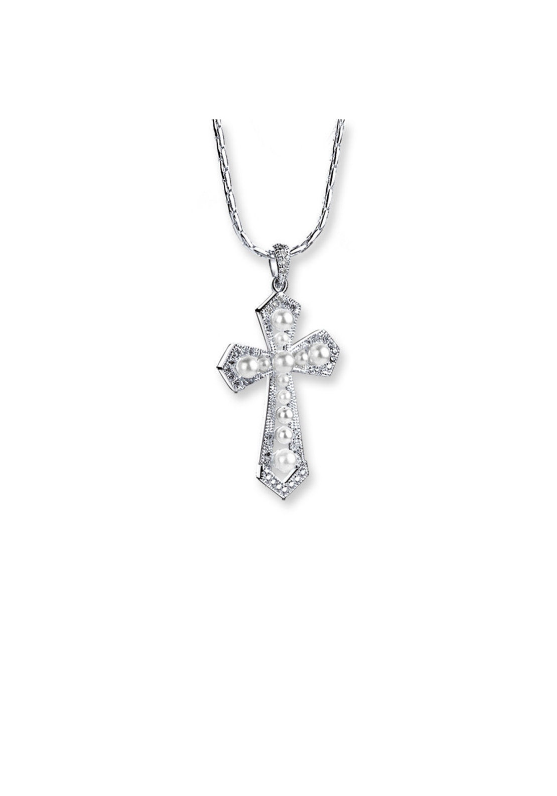 Newbridge Princess Grace Collection Cross Pendant, Silver