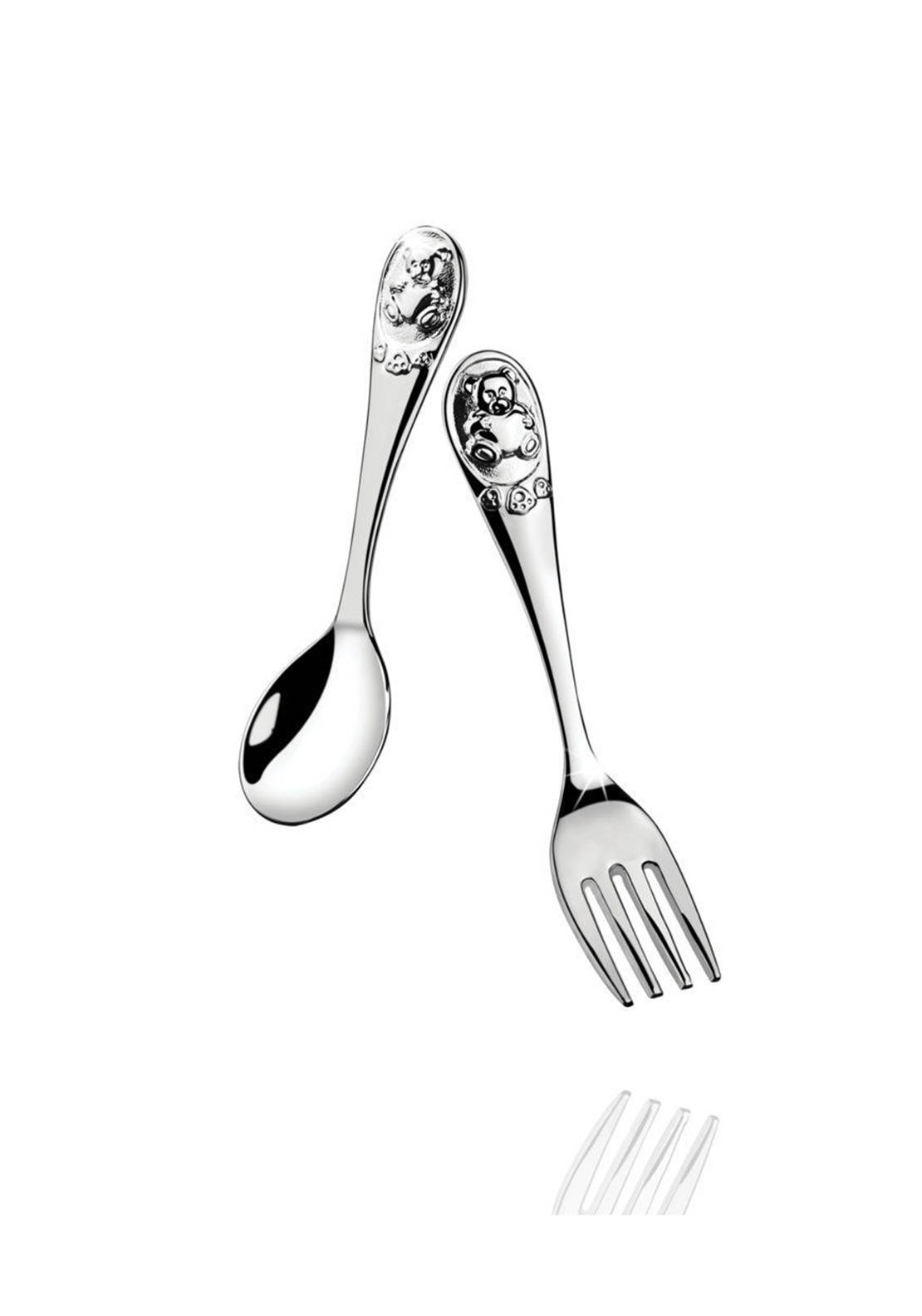 NEWBRIDGE TEDDY BEAR FORK&SPOON SET
