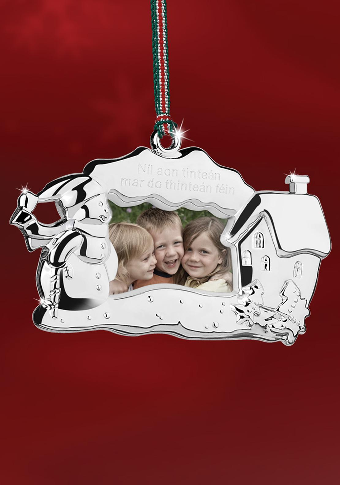 Newbridge Christmas Snowman Photo Frame Hanging Decoration