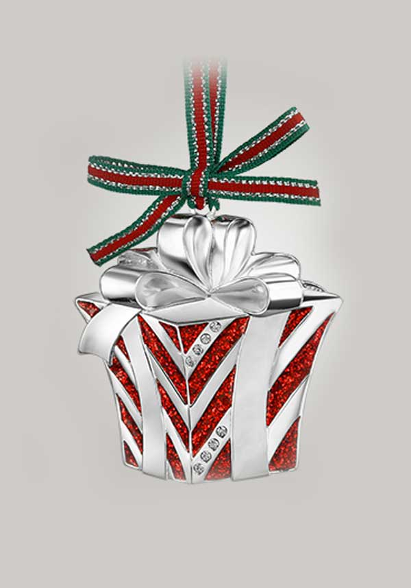 Newbridge Christmas Christmas Box Decoration with Bow