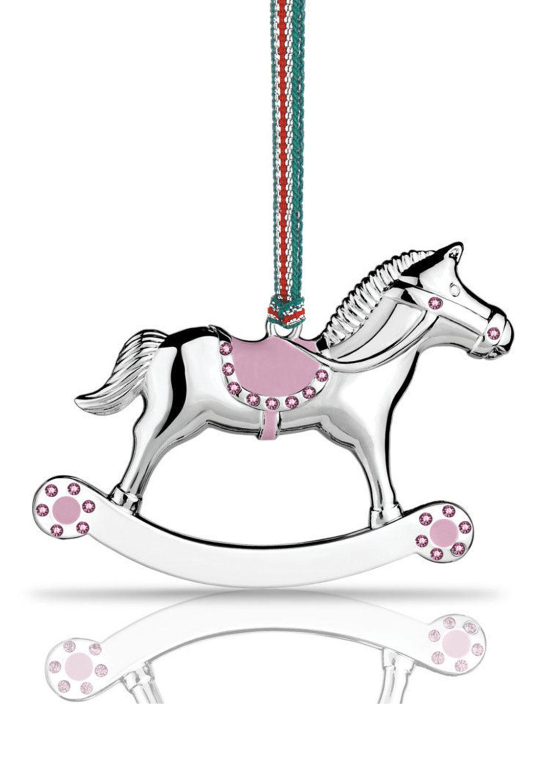Newbridge Christmas Rocking Horse Hanging Decoration, Girl