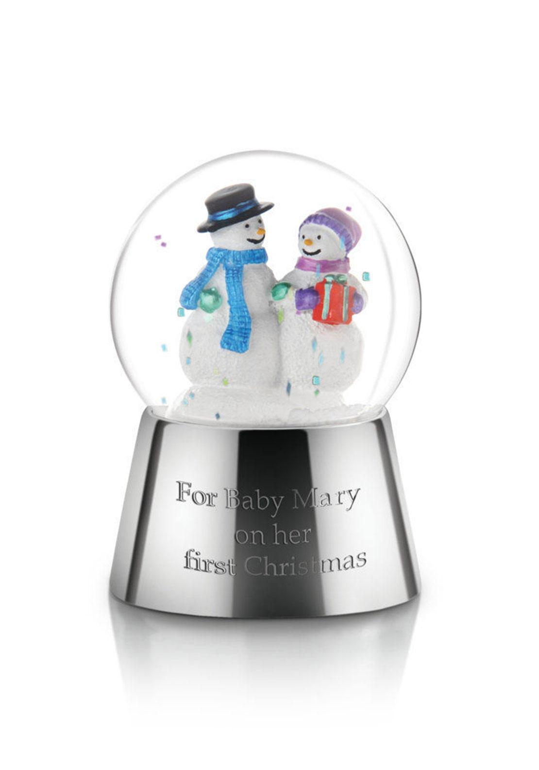 Newbridge Christmas Snow Globe with Snowmen, Small