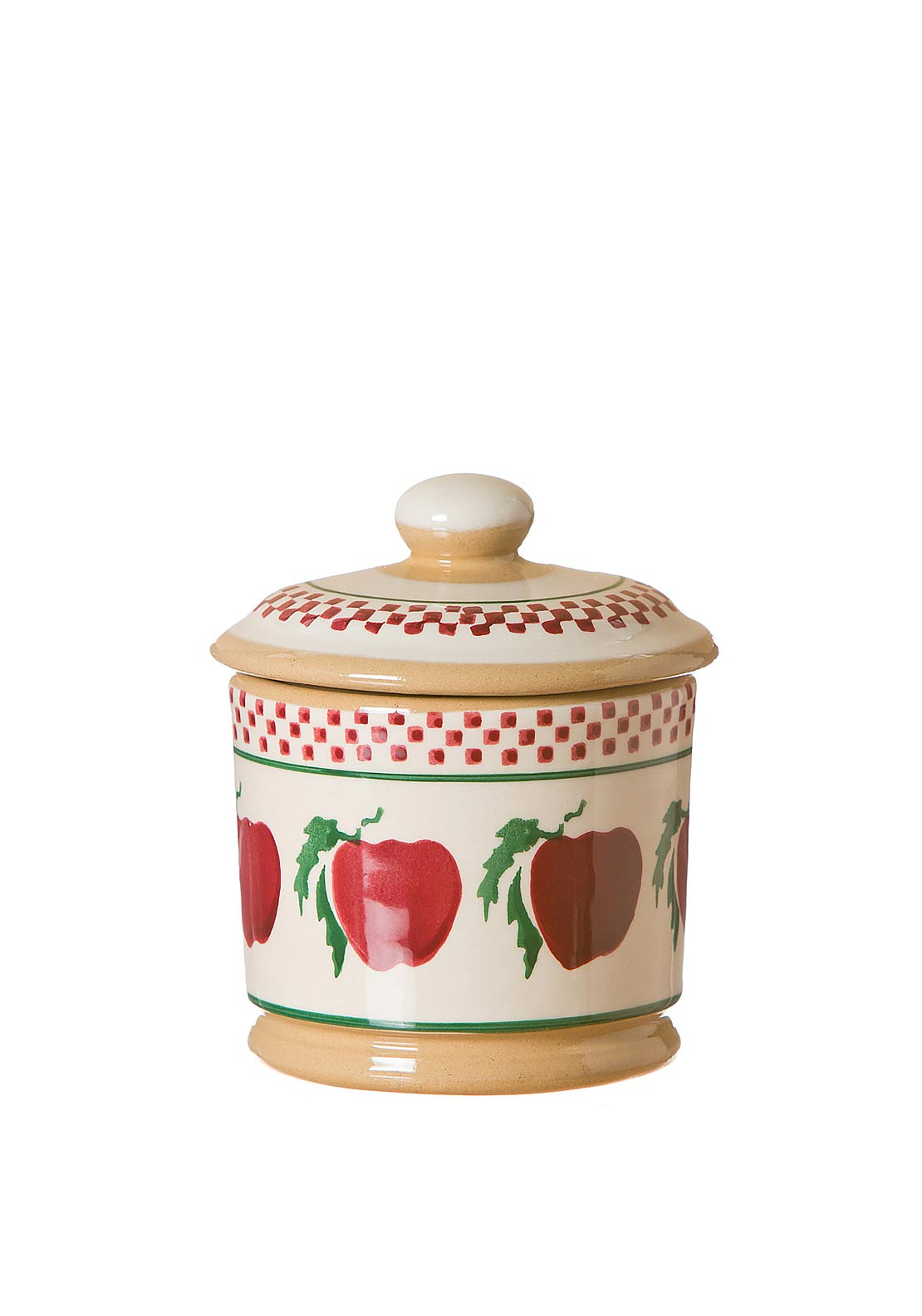 Nicholas Mosse Pottery Apple Lid Sugar Bowl
