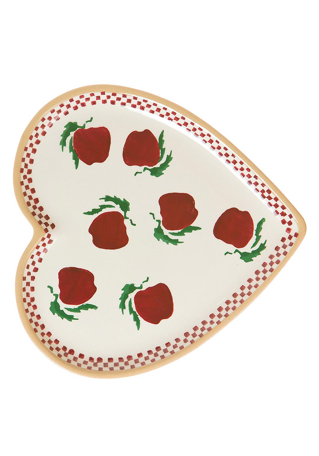 Nicholas Mosse Pottery Apple Heart Plate, Medium