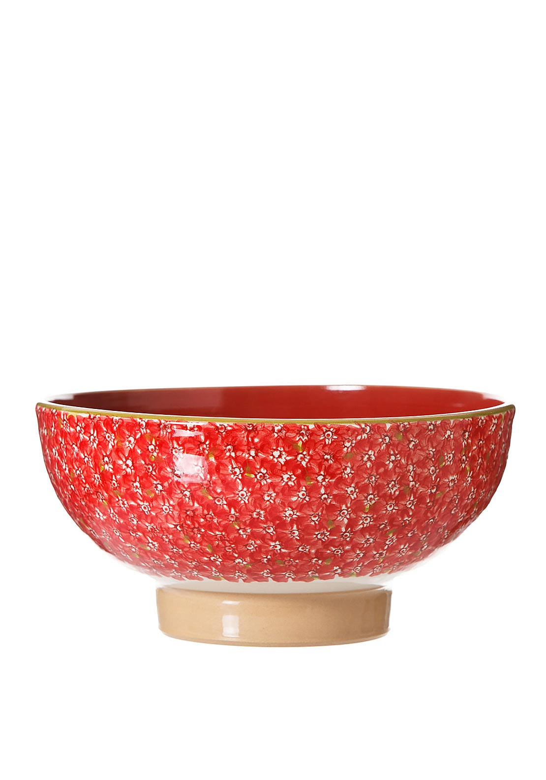 Nicholas Mosse Pottery Red Lawn Salad Bowl